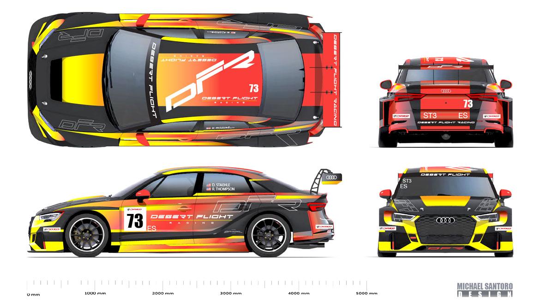 Audi RS3 race livery design final artwork by Michael Santoro