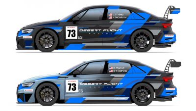 Graphic layout for livery designs for Audi Rs3 TCR race cars