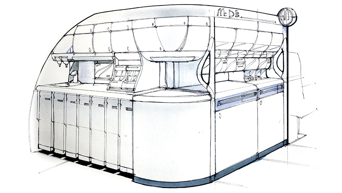 sefl service food station concept for boeing