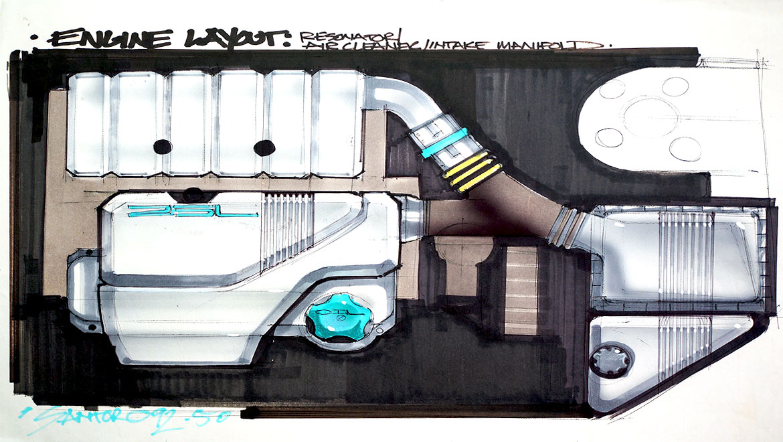 automitve design underhood styling