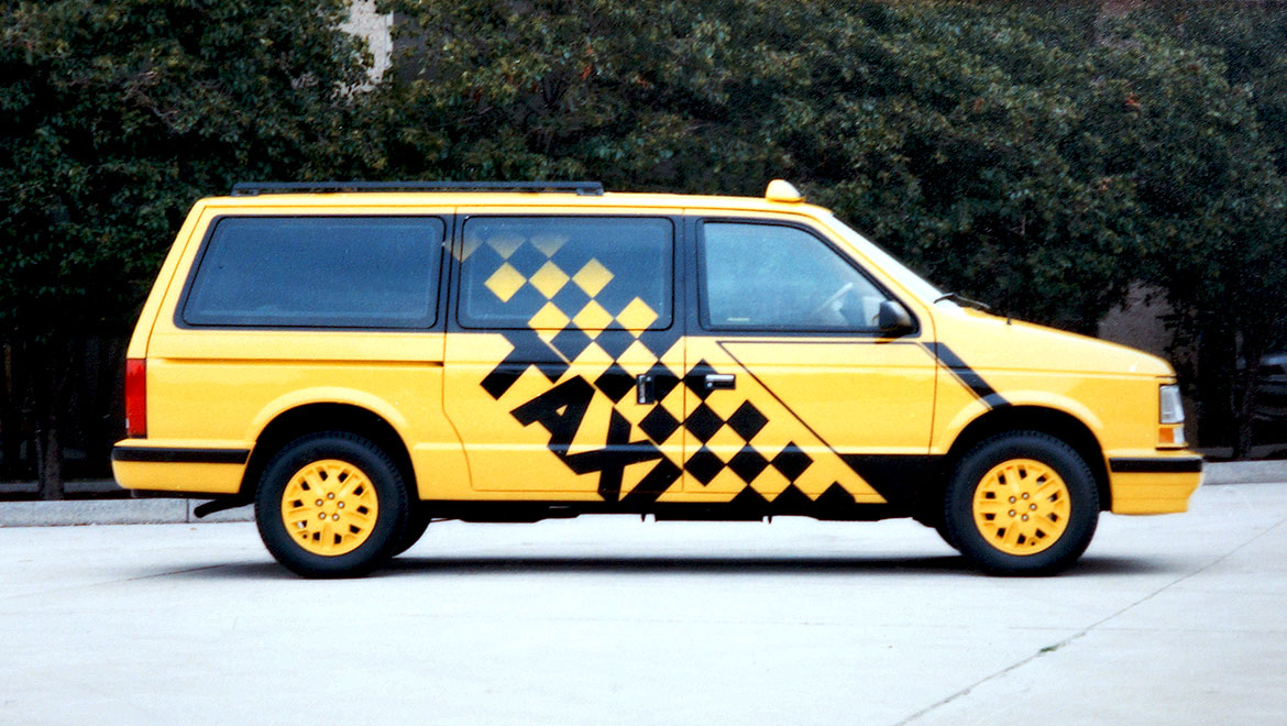 chrysler minivan taxi side view