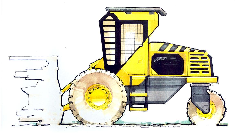 radcial heavy equipment concept design by michael santoro