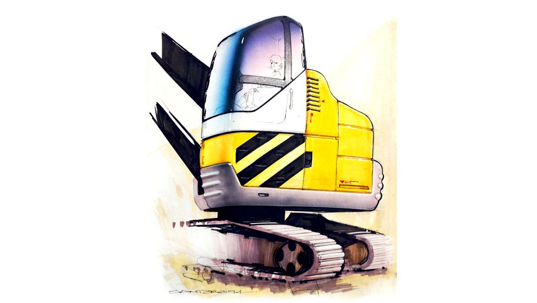 futuristic heavy equipment concept design by michael santoro