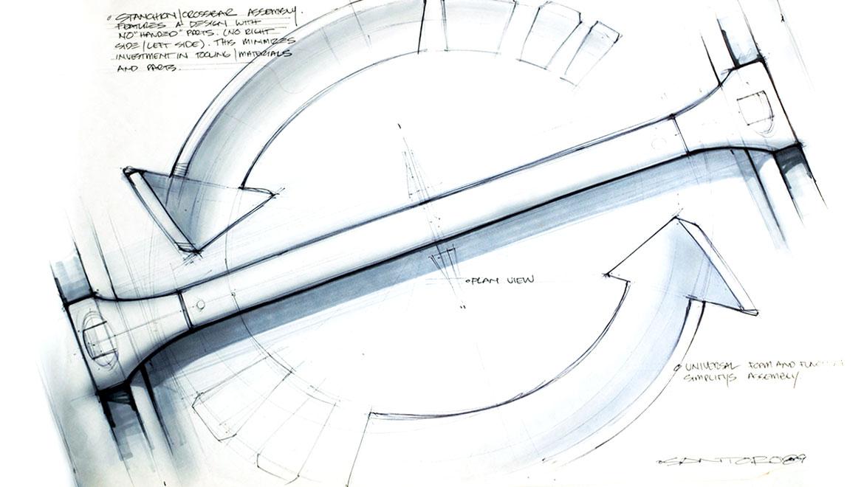 concept skectch for roof rack design