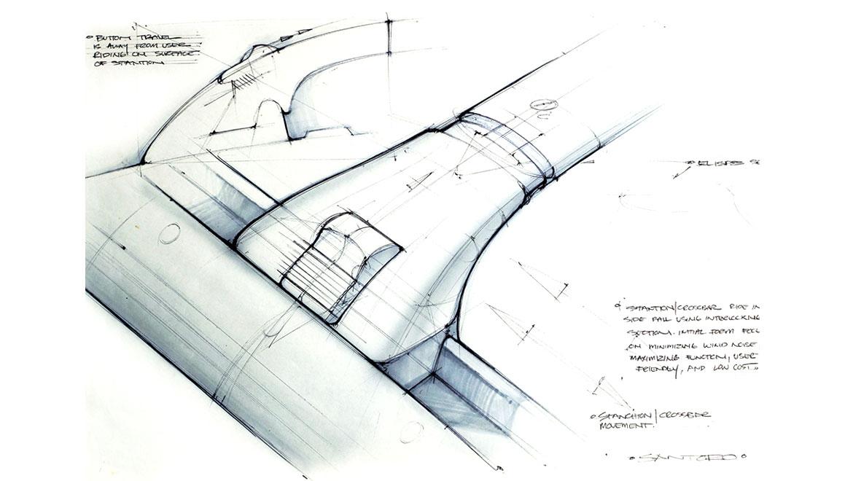 roof rack stanchion design concept
