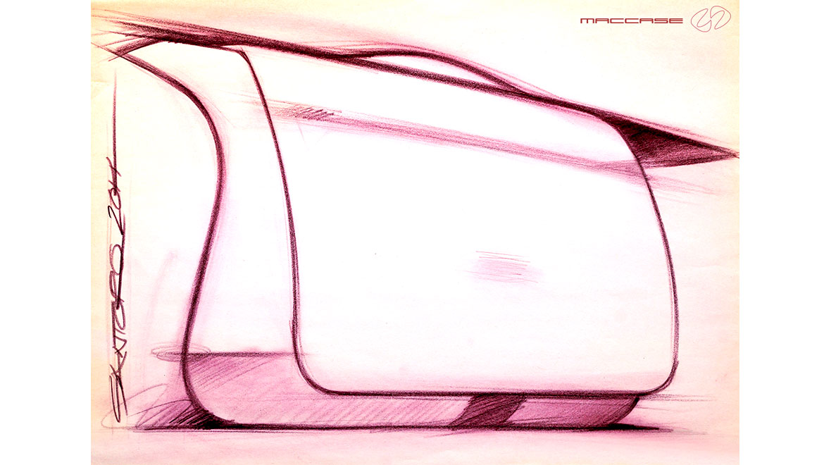 messenger bag concept sketch by michael santoro