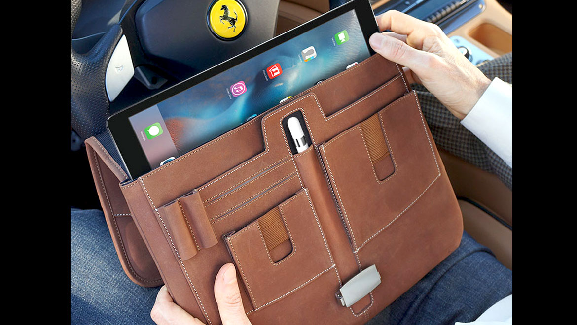 iPad Pro Briefcase open