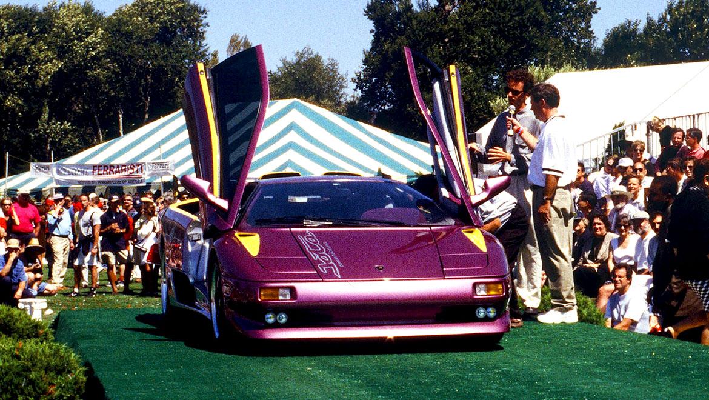 Lamborghini Jota Americana on the podium at concorso italiano