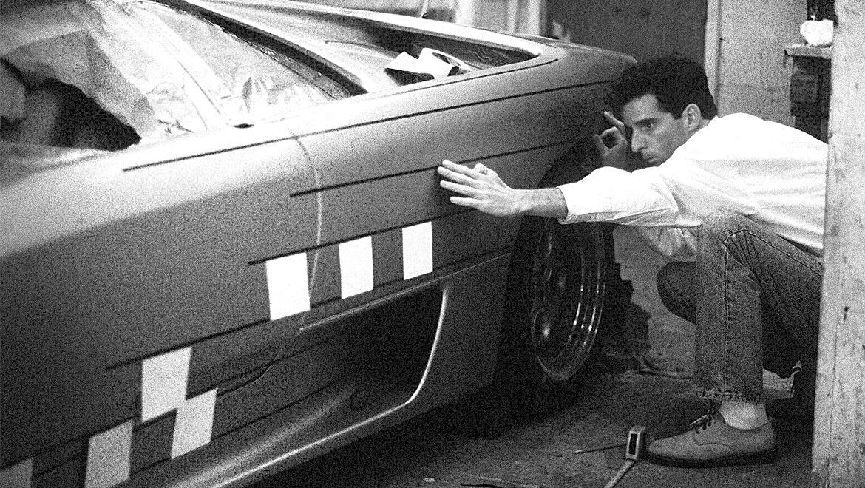 michael santoro tapping up the Design ideas for Lamborghini Jota