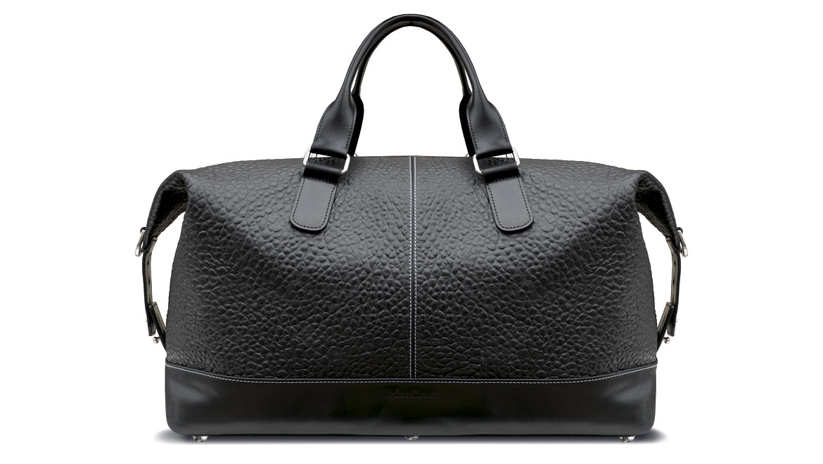 santoro deisgn leather overnight bag in black